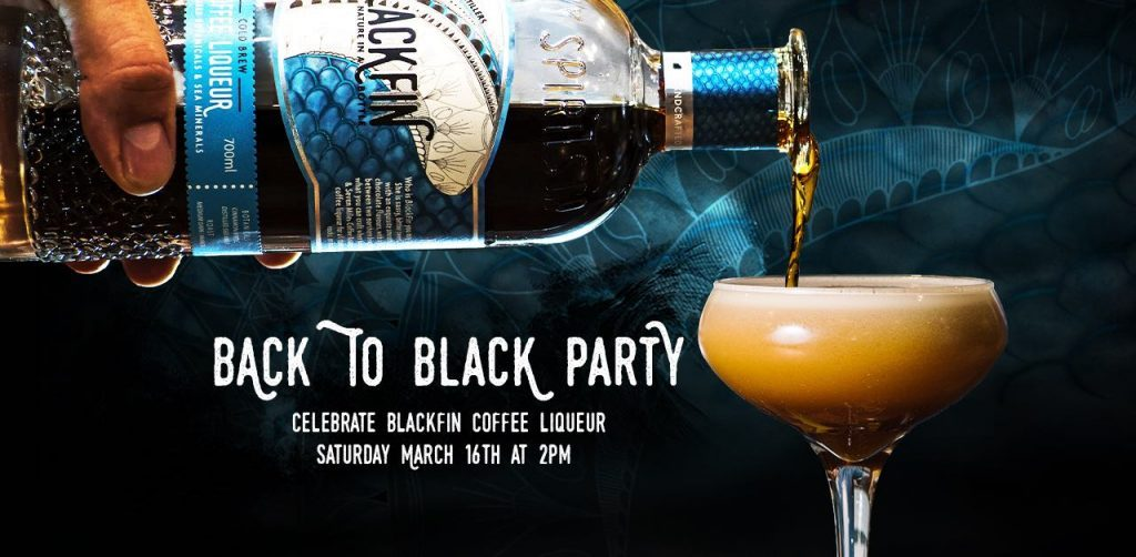 Design for website banner and social media. Client was Manly Spirits and their Blackfin espresso liquor launch