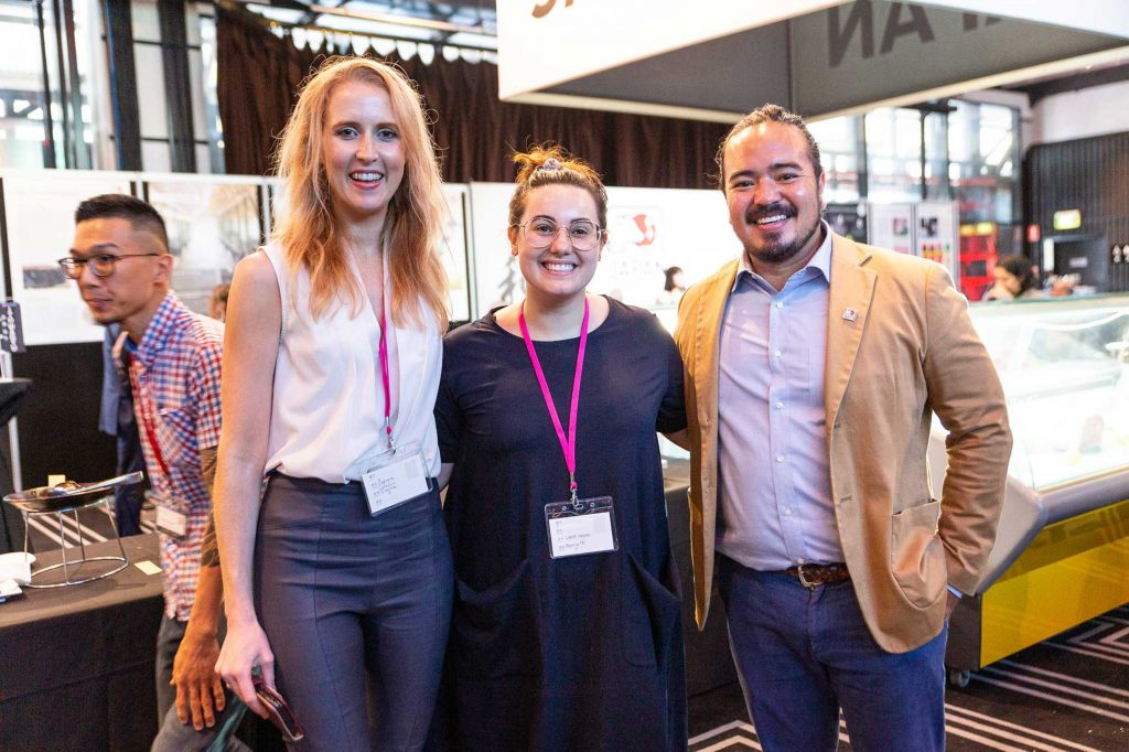 Papaya team poses with Celebrity chef adam liaw for pr