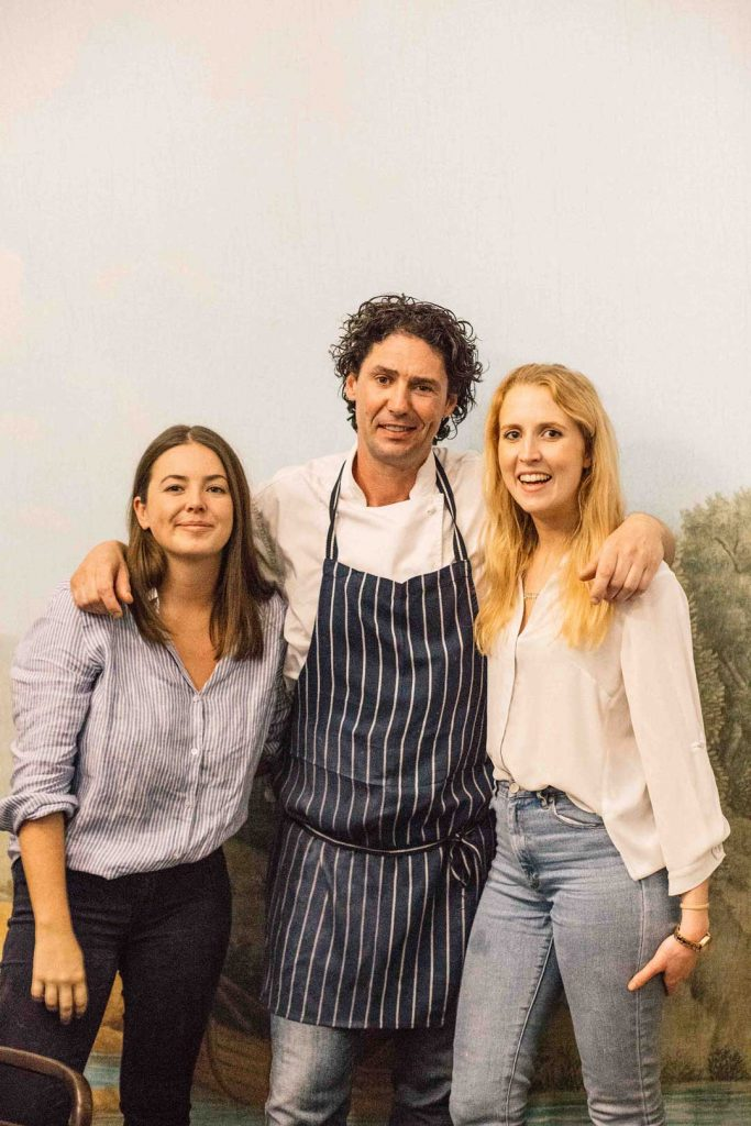Papaya team poses with celebrity chef Colin fassnidge for pr media