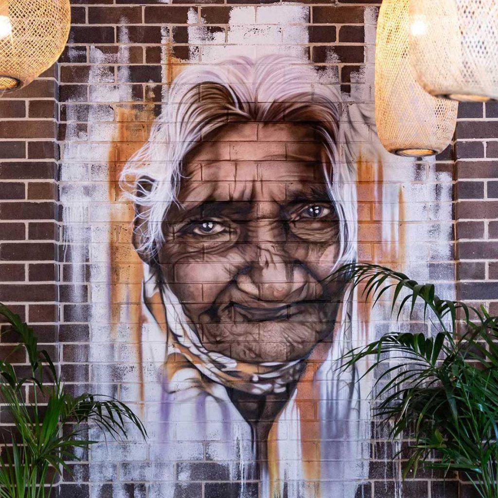 Image of graffiti for restaurant marketing of Colombo Social